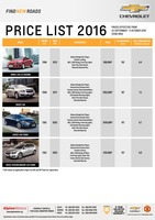 chevrolet Price List 9-22-2016 Page 1
