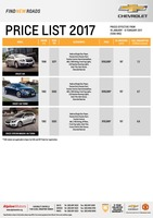 chevrolet Price List 1-19-2017 Page 1