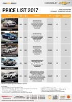 chevrolet Price List 2-24-2017 Page 1