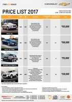 chevrolet Price List 5-12-2017 Page 1