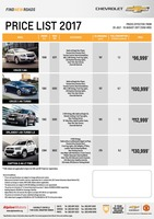 chevrolet Price List 7-19-2017 Page 1