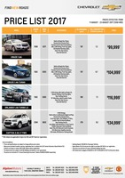 chevrolet Price List 8-11-2017 Page 1