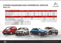 citroen Price List 1-19-2018 Page 1