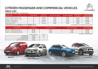 citroen Price List 3-8-2018 Page 1