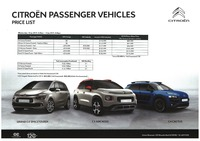citroen Price List 1-14-2019 Page 1