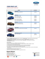 ford Price List 3-30-2015 Page 1