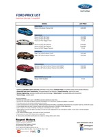 ford Price List 7-22-2015 Page 1