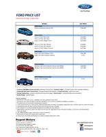 ford Price List 8-21-2015 Page 1