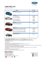 ford Price List 10-9-2015 Page 1