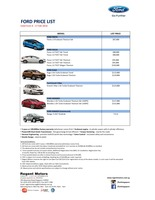 ford Price List 2-5-2016 Page 1