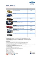 ford Price List 5-25-2016 Page 1
