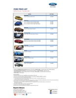 ford Price List 6-24-2016 Page 1