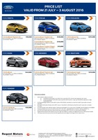 ford Price List 7-21-2016 Page 1