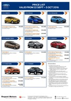ford Price List 9-23-2016 Page 1