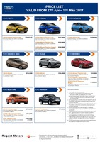 ford Price List 4-27-2017 Page 1