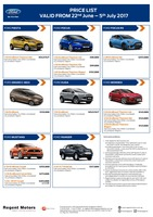 ford Price List 6-21-2017 Page 1