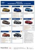 ford Price List 9-22-2017 Page 1