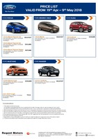 ford Price List 4-19-2018 Page 1