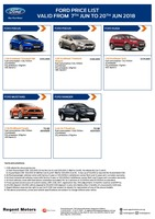 ford Price List 6-6-2018 Page 1