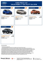 ford Price List 10-5-2018 Page 1
