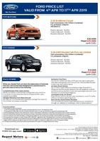 ford Price List 4-4-2019 Page 1