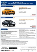 ford Price List 5-9-2019 Page 1
