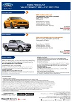 ford Price List 9-11-2020 Page 1