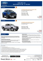 ford Price List 1-20-2021 Page 1