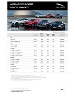 jaguar Price List 6-26-2020 Page 1