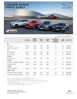 jaguar Price List 4-8-2021 Page 1