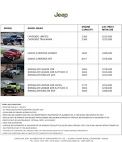jeep Price List 8-20-2015 Page 1