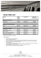 jeep Price List 9-25-2015 Page 1