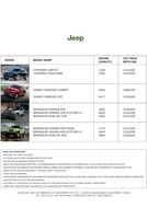 jeep Price List 11-20-2015 Page 1