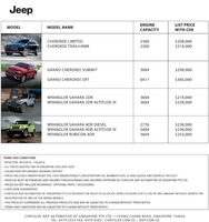 jeep Price List 5-19-2016 Page 1