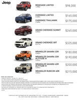 jeep Price List 4-27-2017 Page 1