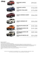 jeep Price List 5-12-2017 Page 1