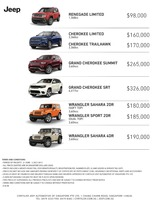 jeep Price List 6-22-2017 Page 1