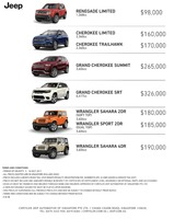 jeep Price List 7-6-2017 Page 1