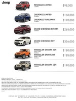jeep Price List 7-21-2017 Page 1