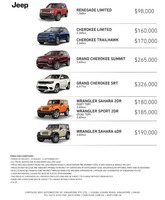 jeep Price List 8-24-2017 Page 1