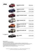 jeep Price List 10-20-2017 Page 1