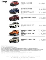 jeep Price List 11-10-2017 Page 1