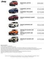 jeep Price List 1-5-2018 Page 1