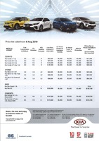 kia Price List 8-8-2019 Page 1