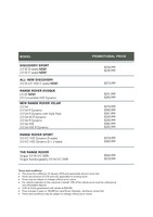 land-rover Price List 1-18-2018 Page 1
