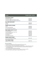 land-rover Price List 6-6-2018 Page 1