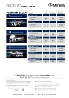 lexus Price List 3-20-2015 Page 1