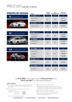 lexus Price List 8-19-2016 Page 1