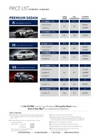 lexus Price List 2-25-2017 Page 1