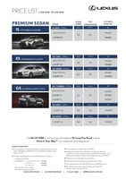 lexus Price List 6-7-2018 Page 1
